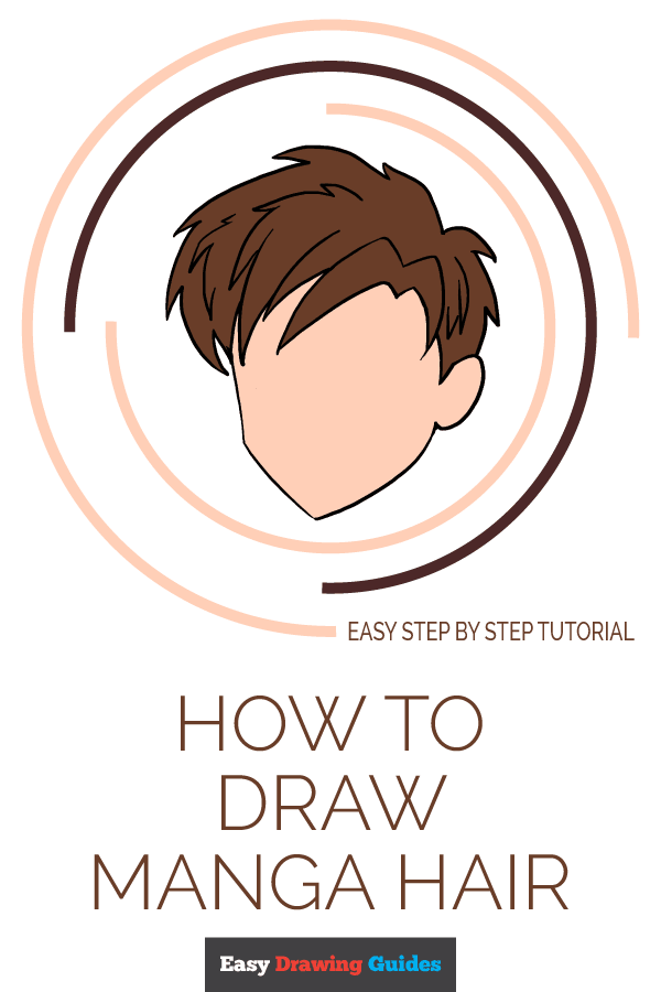 How to Draw Manga Hair Pinterest Image