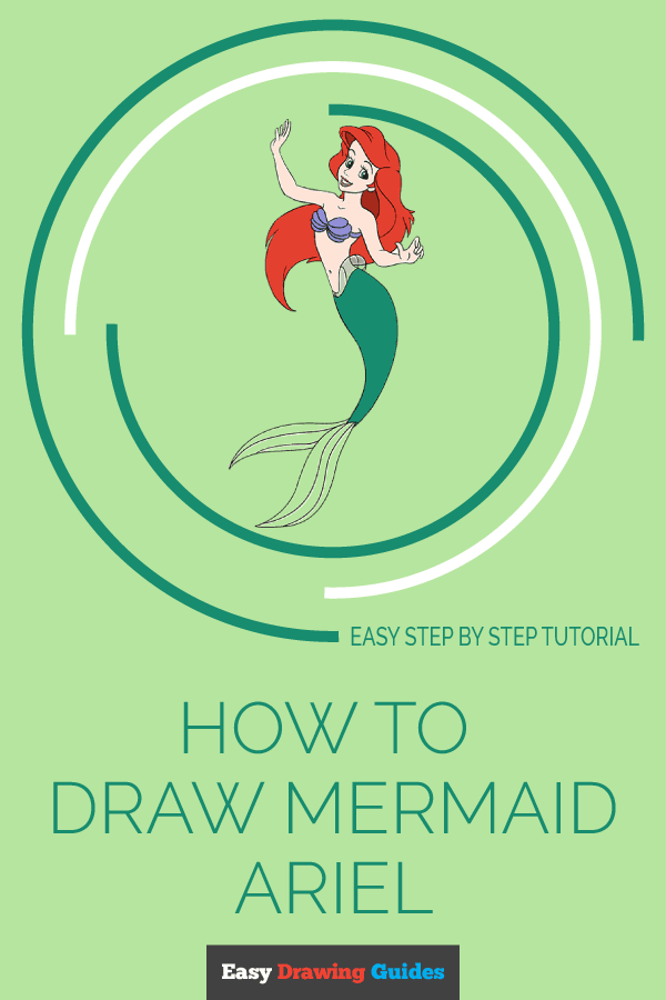 How to Draw Mermaid Ariel | Share to Pinterest