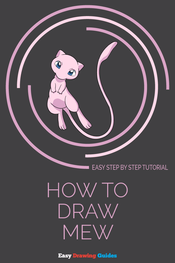 How to Draw Mew | Share to Pinterest