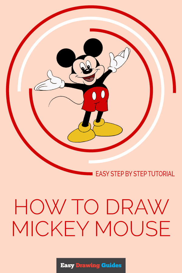 How to Draw Mickey Mouse | Share to Pinterest