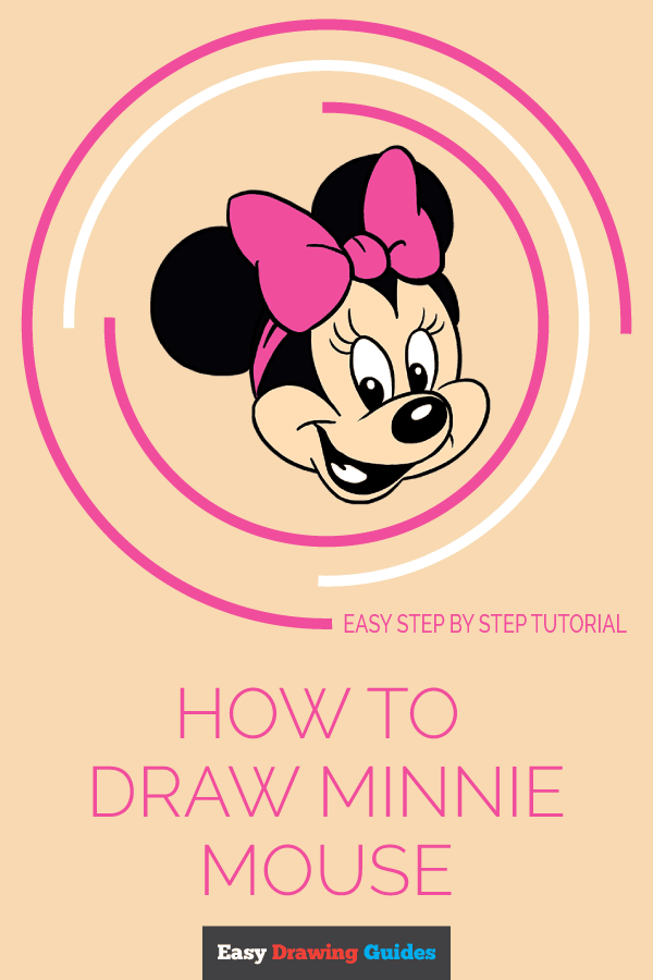 How to Draw Minnie Mouse | Share to Pinterest