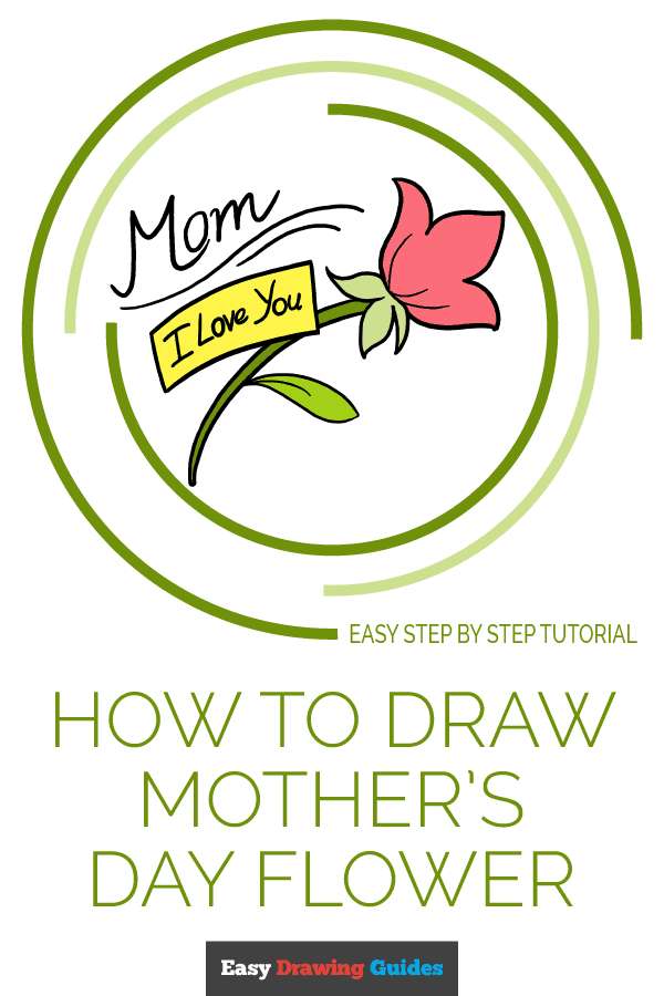 How to Draw Mother's Day Flower | Share to Pinterest