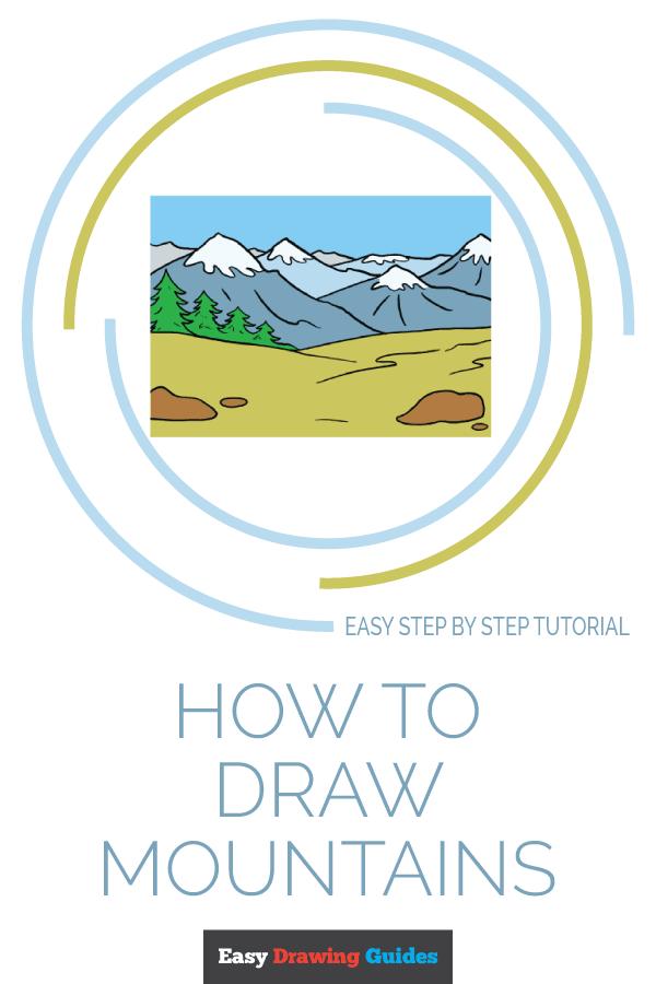 How to Draw Mountains | Share to Pinterest