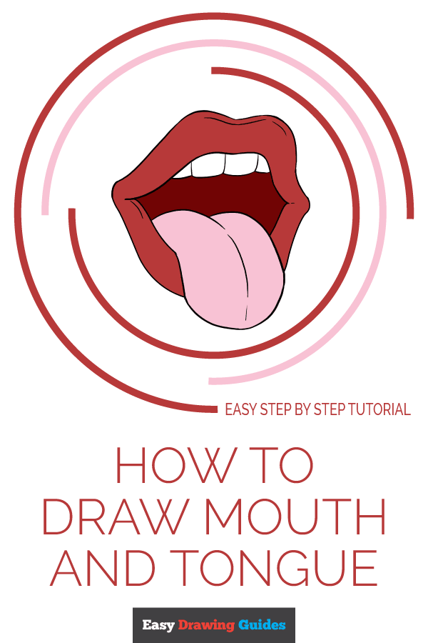 How to Draw Mouth and Tongue | Share to Pinterest