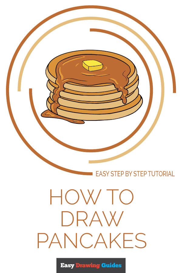 How to Draw Pancakes | Share to Pinterest