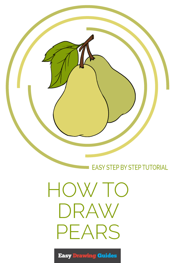 How to Draw Pears | Share to Pinterest