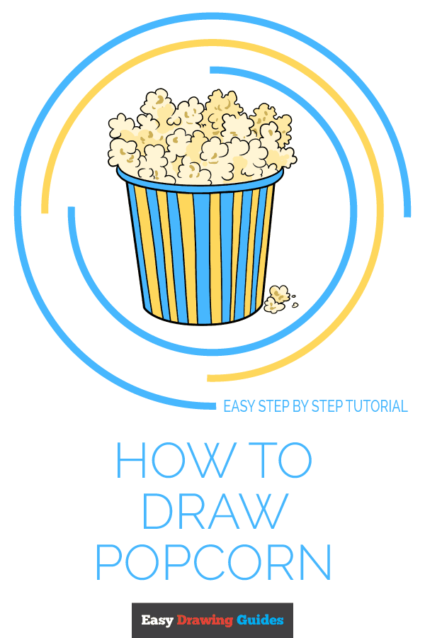 How to Draw Popcorn | Share to Pinterest