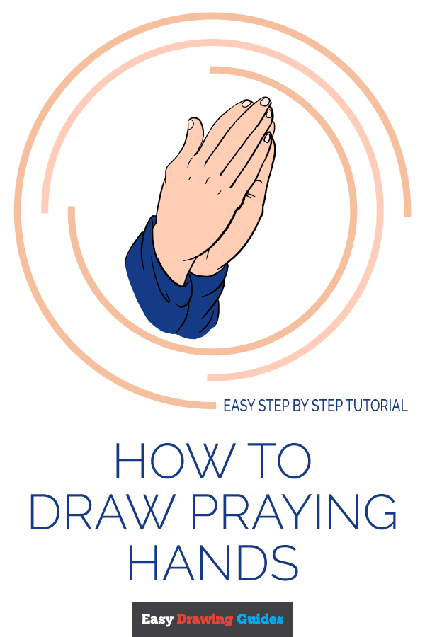 How to Draw Praying Hands | Share to Pinterest