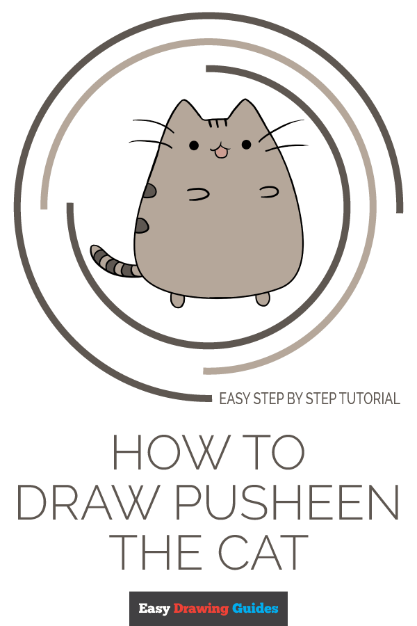 How to Draw Pusheen the Cat | Share to Pinterest