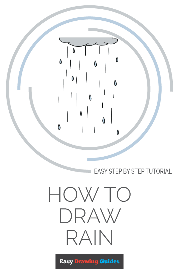 How to Draw Rain | Share to Pinterest