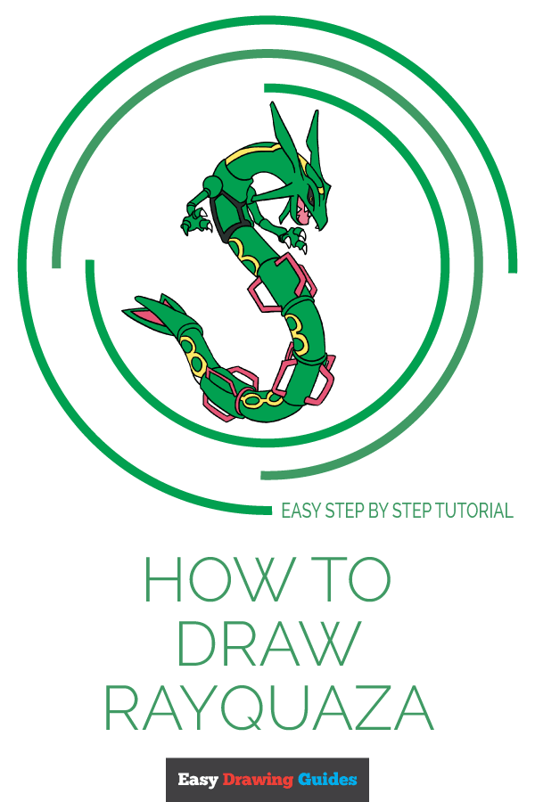 How to Draw Rayquaza | Share to Pinterest