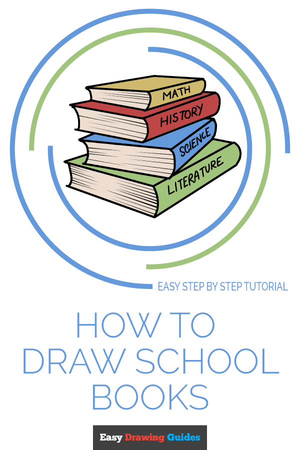 How to Draw School Books | Share to Pinterest