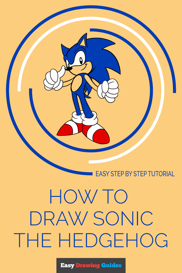 How to Draw Sonic the Hedgehog | Share to Pinterest