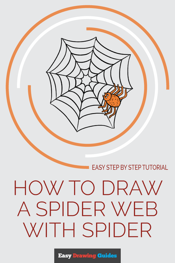 How to Draw Spider Web with Spider | Share to Pinterest