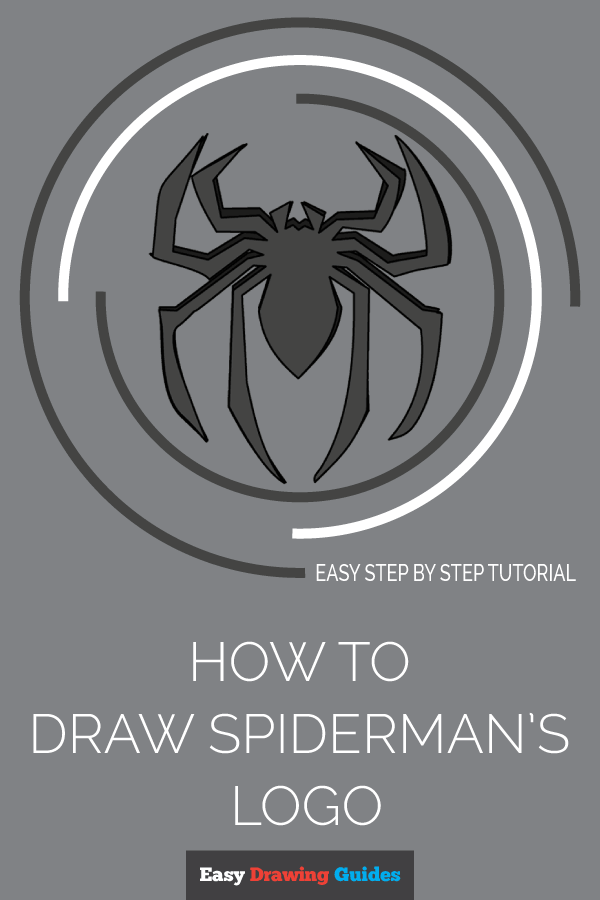 How to Draw Spiderman Logo | Share to Pinterest