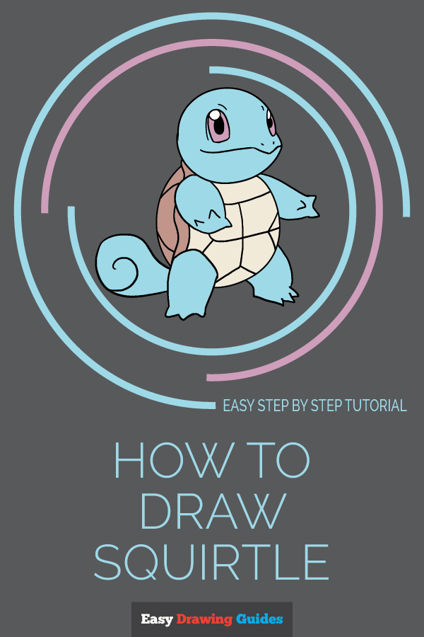 How to Draw Squirtle | Share to Pinterest