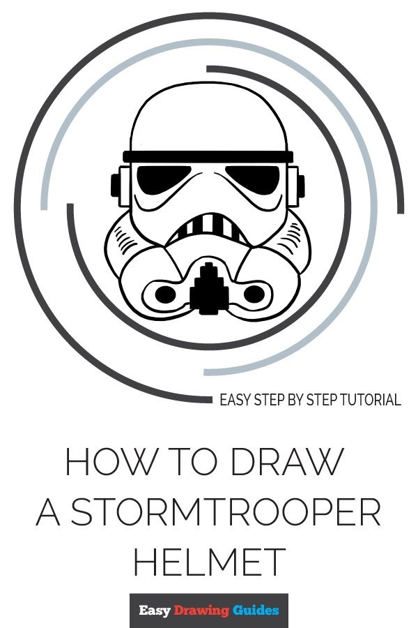 How to Draw Stormtrooper Helmet | Share to Pinterest