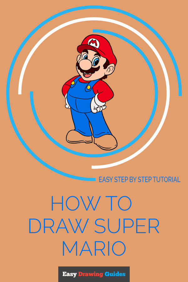 How to Draw Super Mario | Share to Pinterest