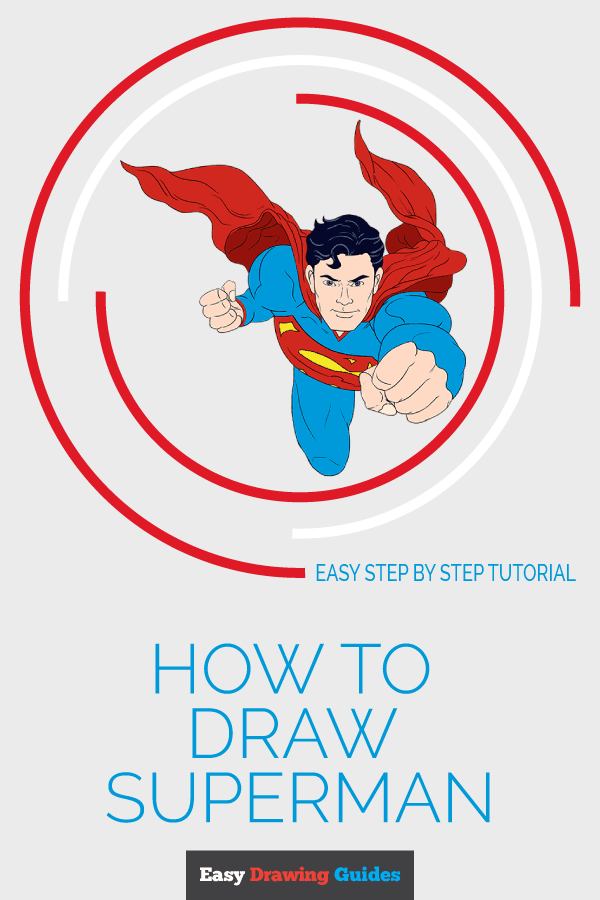 How to Draw Superman | Share to Pinterest