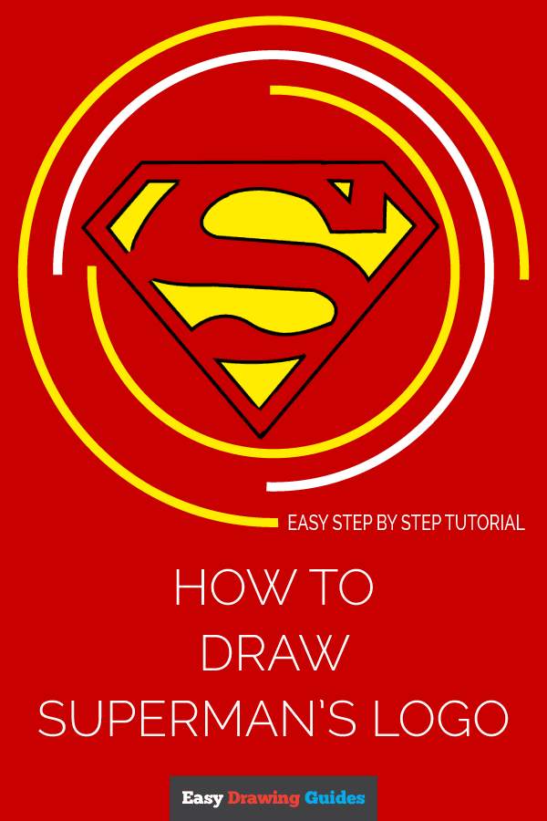 How to Draw Superman Logo | Share to Pinterest