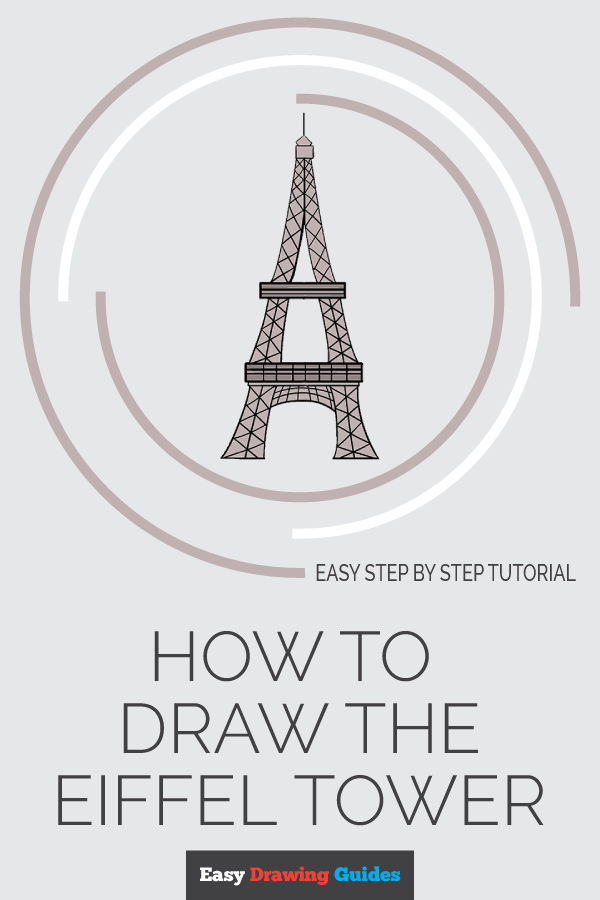 How to Draw Eiffel Tower | Share to Pinterest