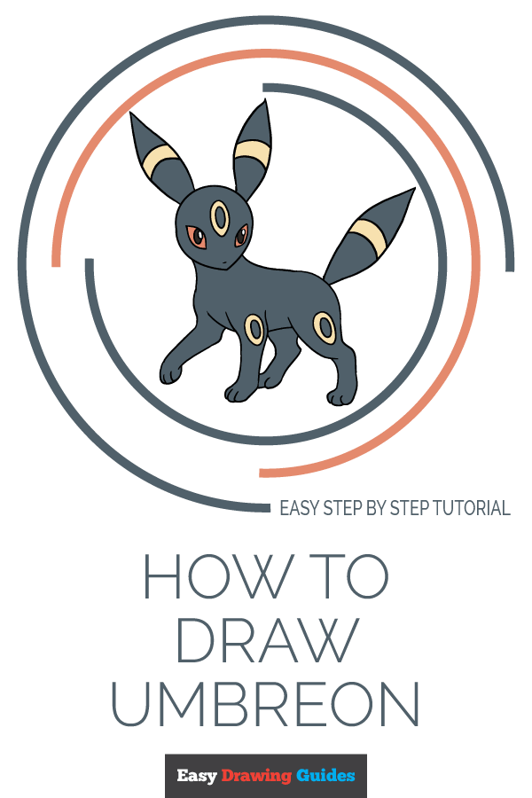 How to Draw Umbreon | Share to Pinterest