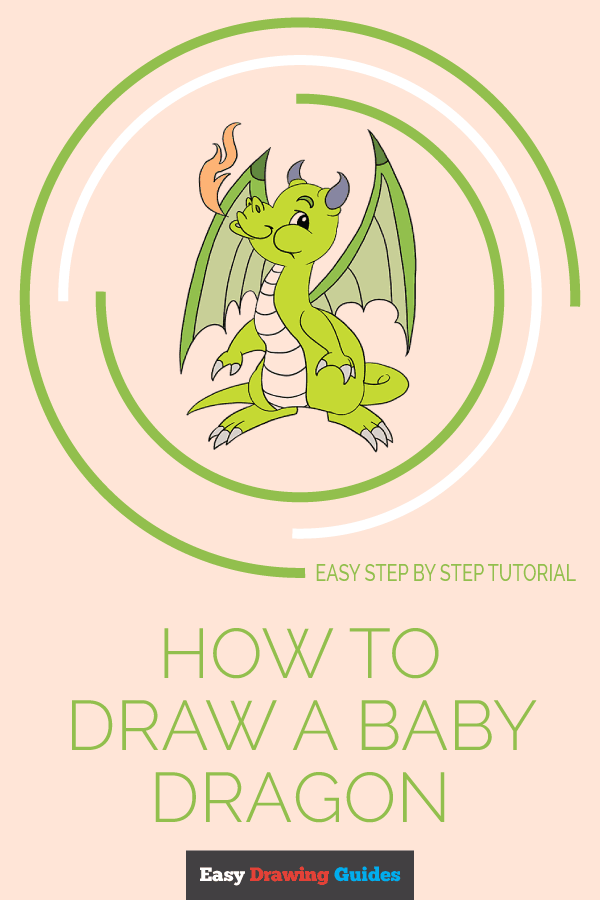 How to Draw Baby Dragon | Share to Pinterest