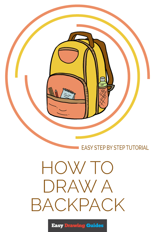 How to Draw Backpack | Share to Pinterest