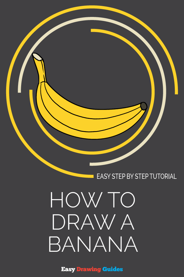 How to Draw Banana | Share to Pinterest