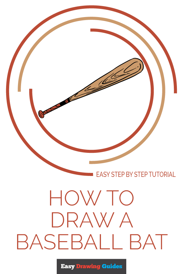 How to Draw Baseball Bat | Share to Pinterest