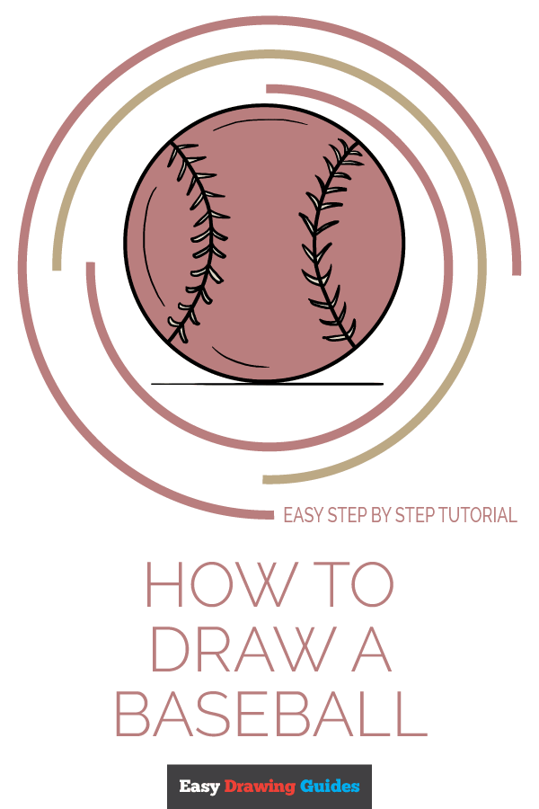 How to Draw Baseball | Share to Pinterest