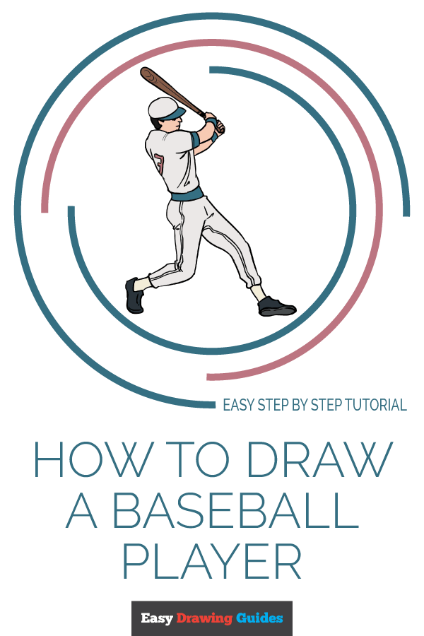 How to Draw a Baseball Player | Share to Pinterest