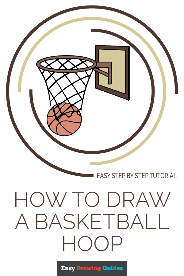 How to Draw Basketball Hoop | Share to Pinterest