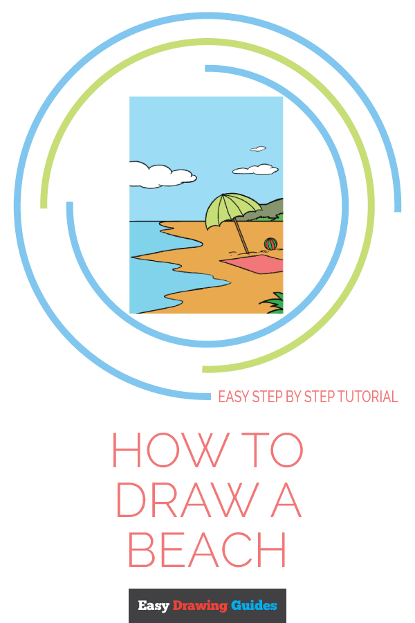 How to Draw Beach | Share to Pinterest