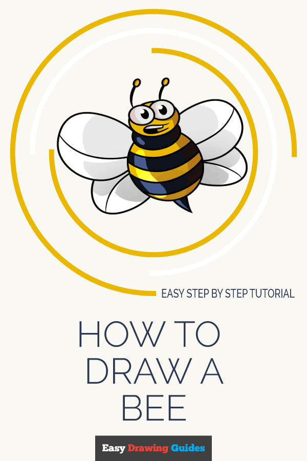 How to Draw Cartoon Bee | Share to Pinterest