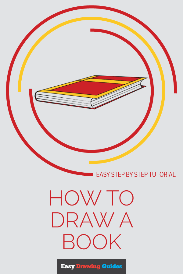How to Draw Book | Share to Pinterest