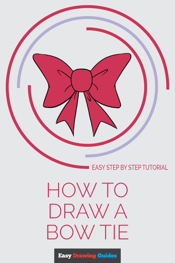 How to Draw Bow Tie | Share to Pinterest