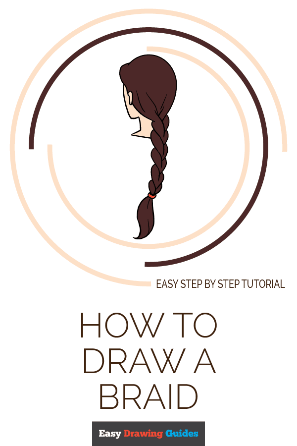 How to Draw a Braid Pinterest Image