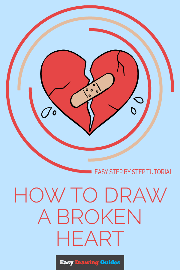 How to Draw Broken Heart | Share to Pinterest