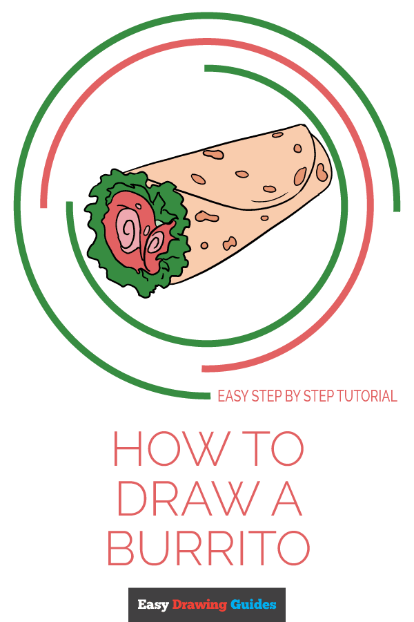 How to Draw Burrito | Share to Pinterest
