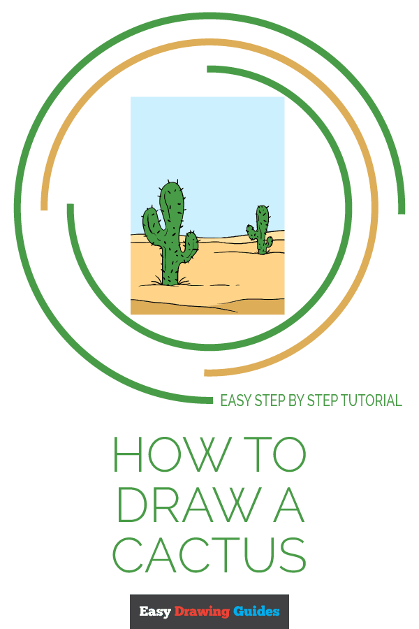 How to Draw Cactus | Share to Pinterest