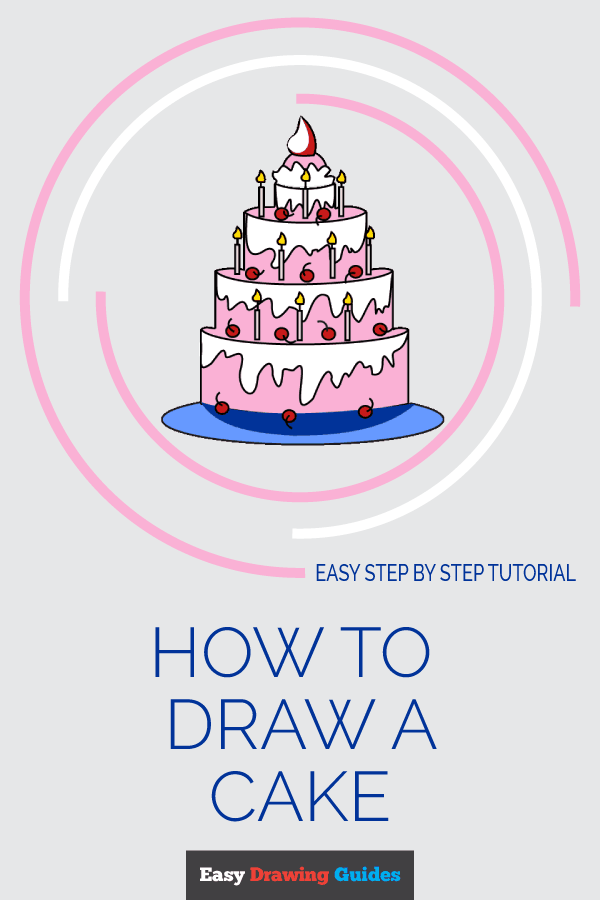 How to Draw a Cake | Share to Pinterest