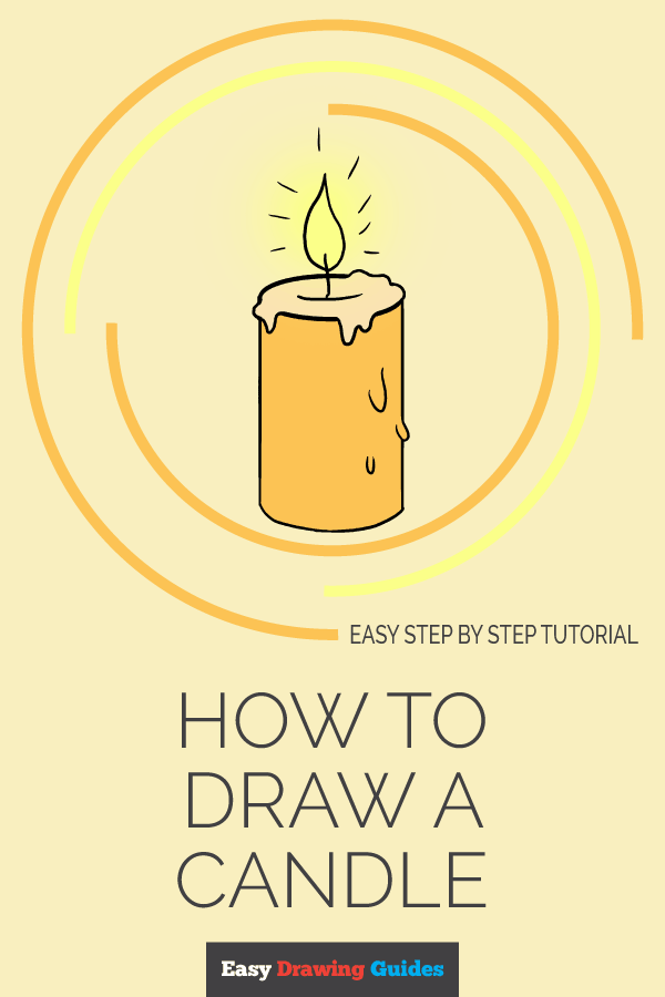 How to Draw Candle | Share to Pinterest
