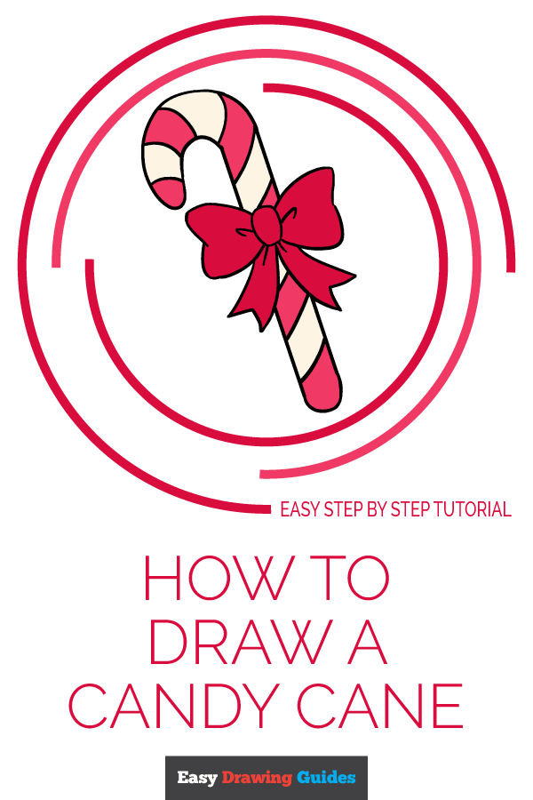 How to Draw Candy Cane | Share to Pinterest