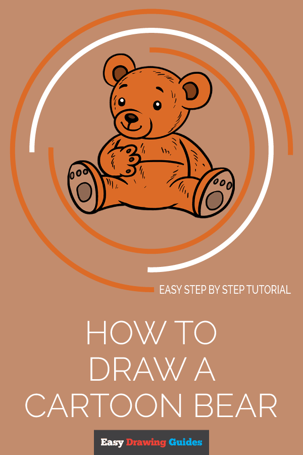 How to Draw Cartoon Bear | Share to Pinterest