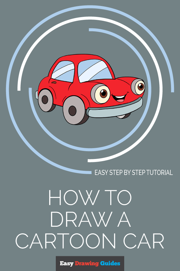 How to Draw Cartoon Car | Share to Pinterest