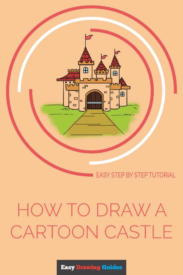 How to Draw a Cartoon Castle | Share to Pinterest