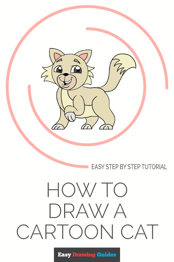 How to Draw Cartoon Cat | Share to Pinterest