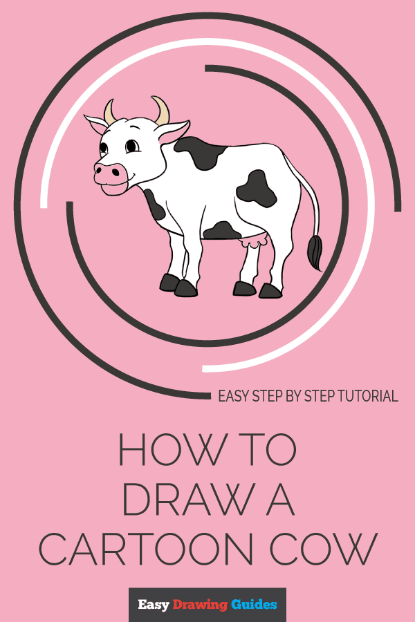 How to Draw Cow | Share to Pinterest