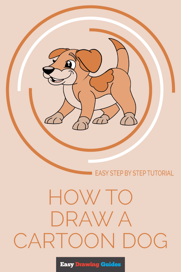 How to Draw Cartoon Dog | Share to Pinterest